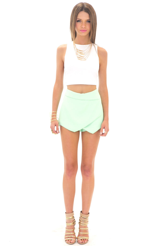 HALLIE ASYMMETRICAL SKORT - MINT