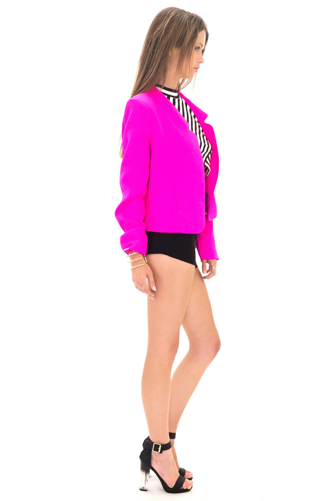 VERONIQUE NEON BLAZER - HOT PINK