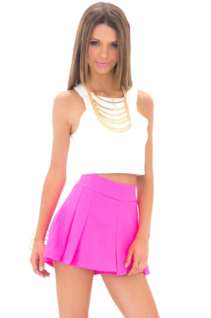 LEROY MULTI PLEAT SKORT