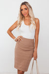 Bandage Pencil Skirt - Taupe