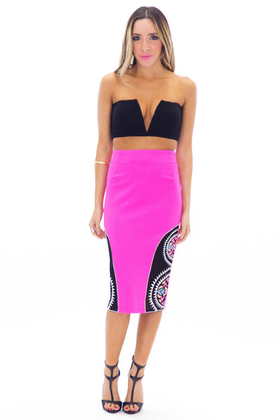 ACHAK TRIBAL PENCIL SKIRT