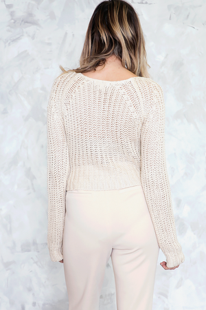 Chunk Knit Sweater - Natural