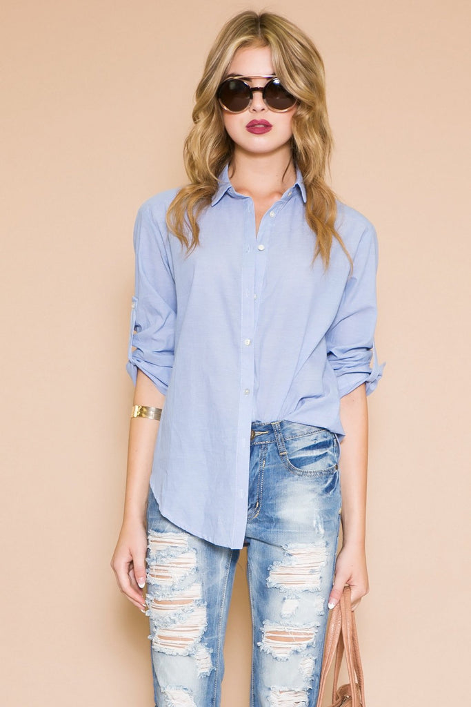 MAVEN BUTTON DOWN SHIRT - BLUE