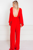 Elegant Long Sleeve Jumpsuit - Red