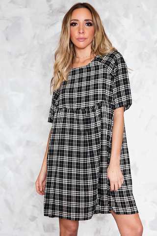 NIX PLAID SHOULDER CUTOUT CROP TOP /// Only 1-L Left ///