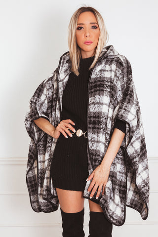 Plaid Check Coat