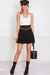 Flare Mini Skirt - Black