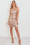 Sleeveless Sequin Mini Dress