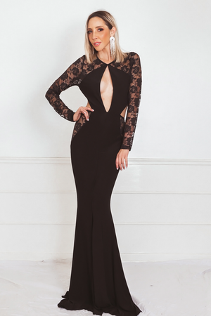 Gorgeous Full Length Dress with Lace Detail