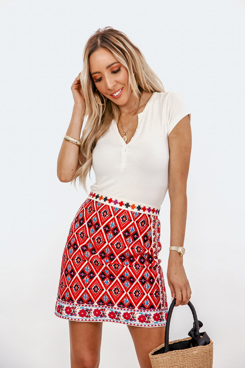 Dakota Tribal Embroided Skirt - Haute & Rebellious