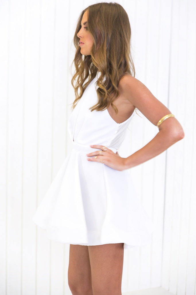 Lana Fit-&-Flair Dress - White