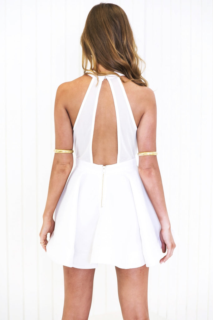 Lana Fit-&-Flair Dress - White /// Only 1-L Left /// - Haute & Rebellious