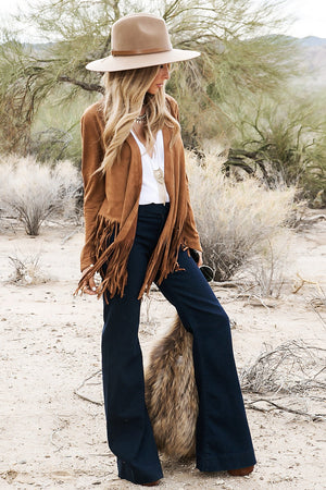 Come To My Suede Fringe Jacket - Haute & Rebellious