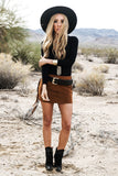 Find In You Suede Fringe Skirt - Haute & Rebellious