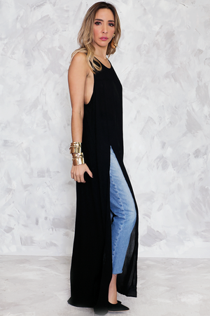 Maxi Top with Slits