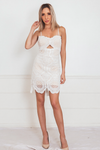 Sleeveless Lace Mini Dress with Cutout