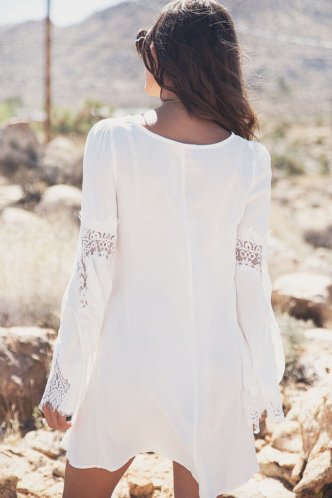 Aviana Lace Bell Sleeve Dress