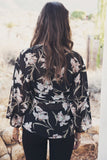 Nyla Flower Print Sheer Blouse (old)