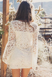 Miya Lace Bell Sleeve Dress - Ivory