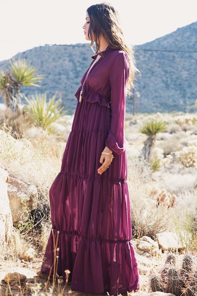 Estelle Tiered Ruffle Maxi Dress - Haute & Rebellious
