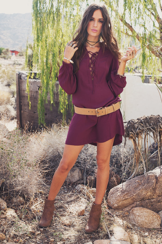 Lilah Flowy Lace-Up Tunic