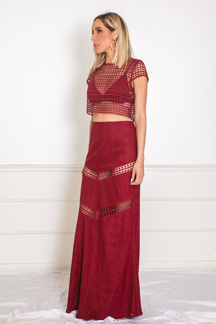 Crop Top and Maxi Skirt Set