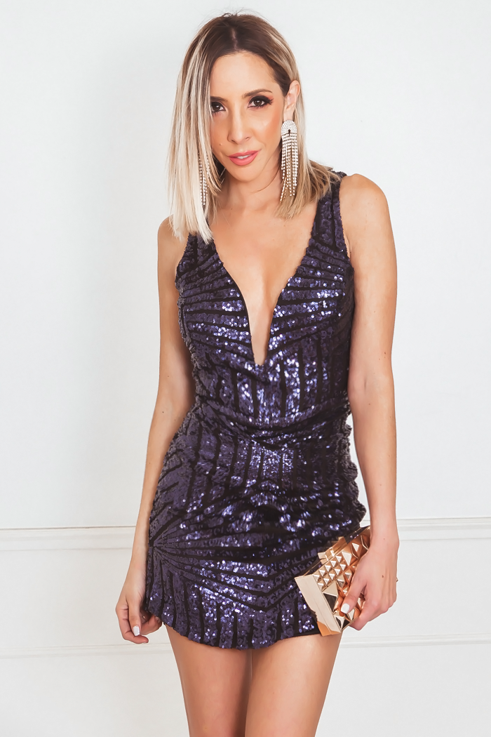 Sequin Body-Con Mini Dress