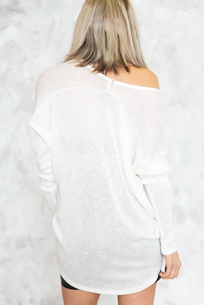 Scarlett Long Sleeve Top - White
