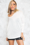 Scarlett Long Sleeve Top - White - Haute & Rebellious