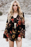 Burn Out My Heart Floral Print Romper