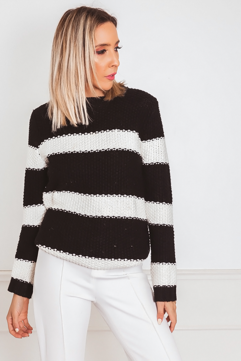 Striped Thick Knitted Sweater