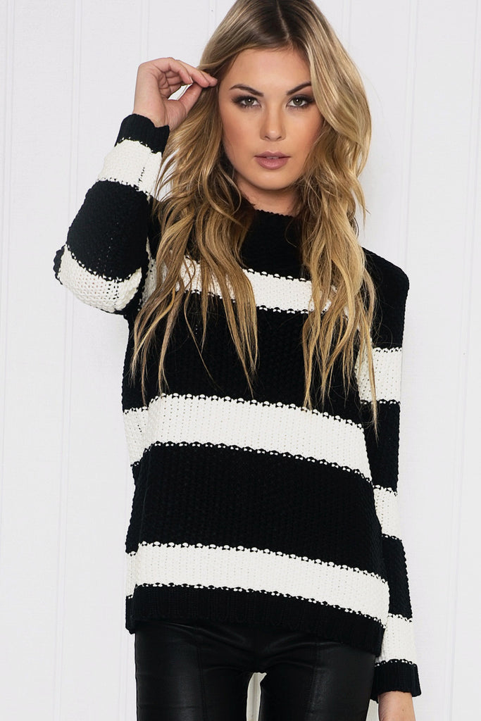 Skyla Striped Knitted Sweater
