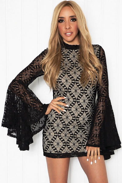 Azaria Lace Bell Sleeve Dress /// ONLY 1-S LEFT///