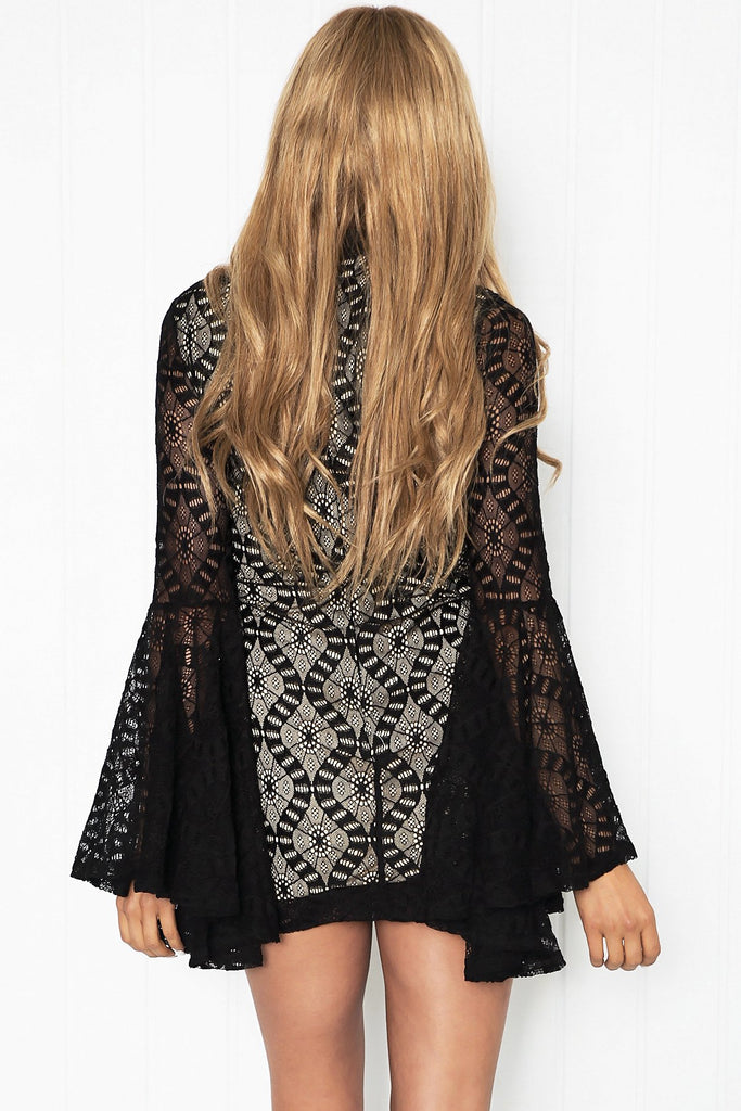 Azaria Lace Bell Sleeve Dress