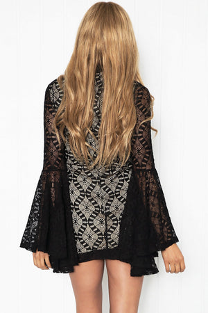 Azaria Lace Bell Sleeve Dress /// ONLY 1-S LEFT/// - Haute & Rebellious