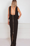 Open Back Zipper Long Dress