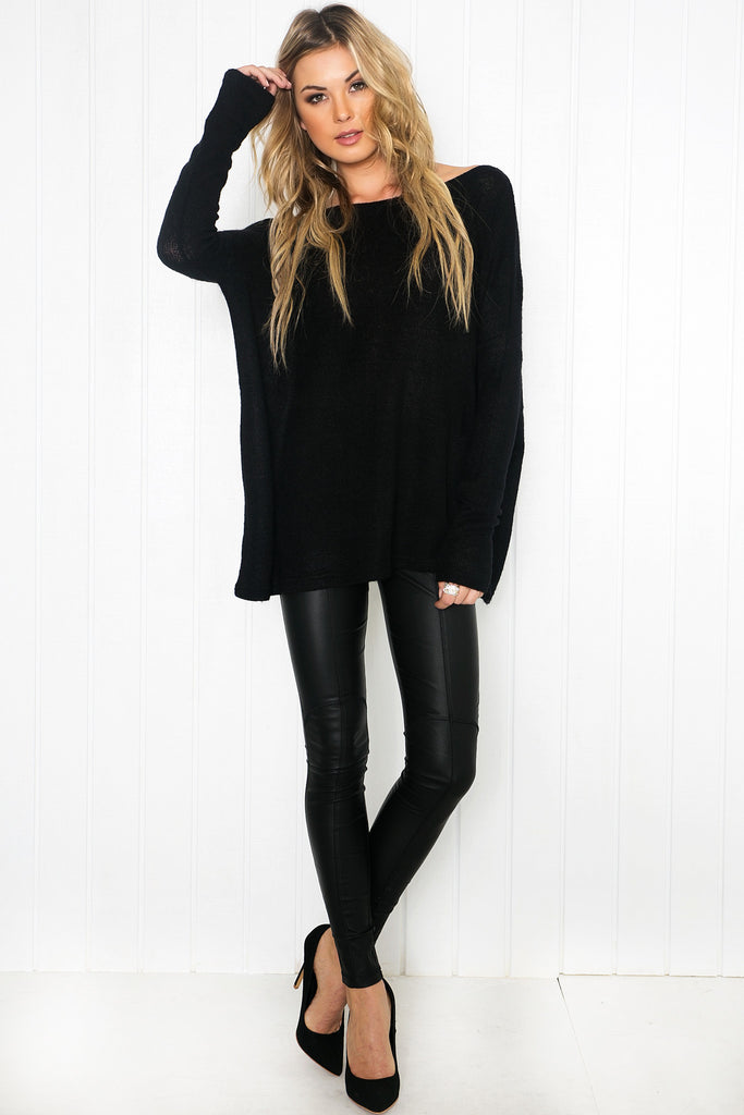 Zyana Lightweight Sweater - Black
