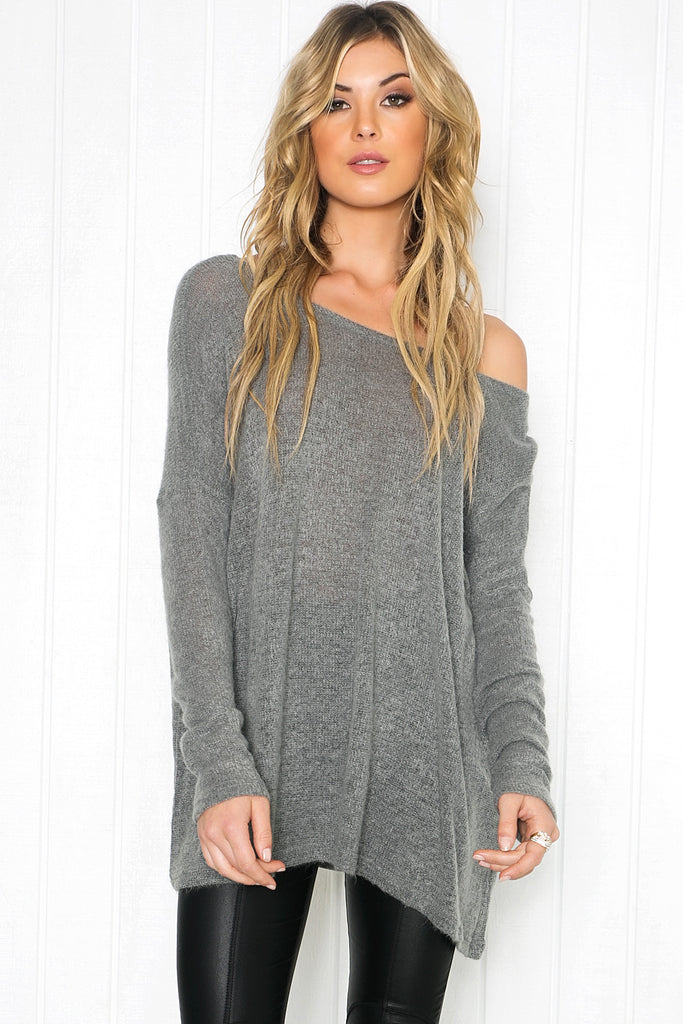 Zyana Lightweight Sweater - Grey