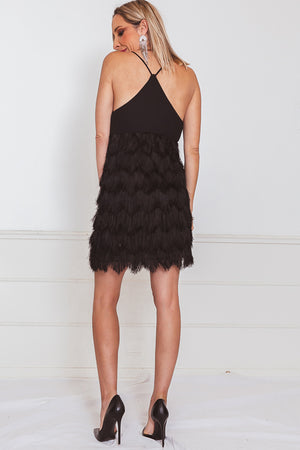 Sexy Layered Fringe Mini Dress
