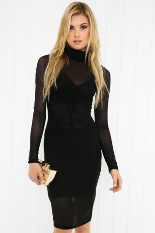 Nidia Velvet Long Sleeve Dress Haute Amp Rebellious