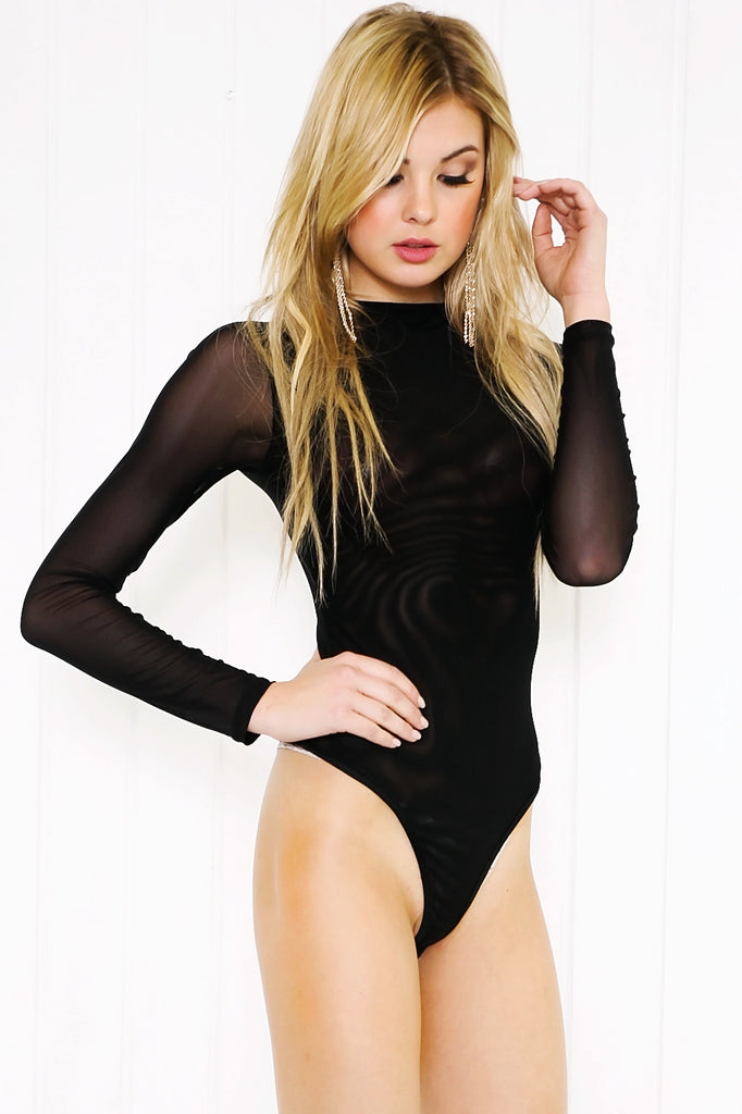 Tesah Mesh Long Sleeve Bodysuit