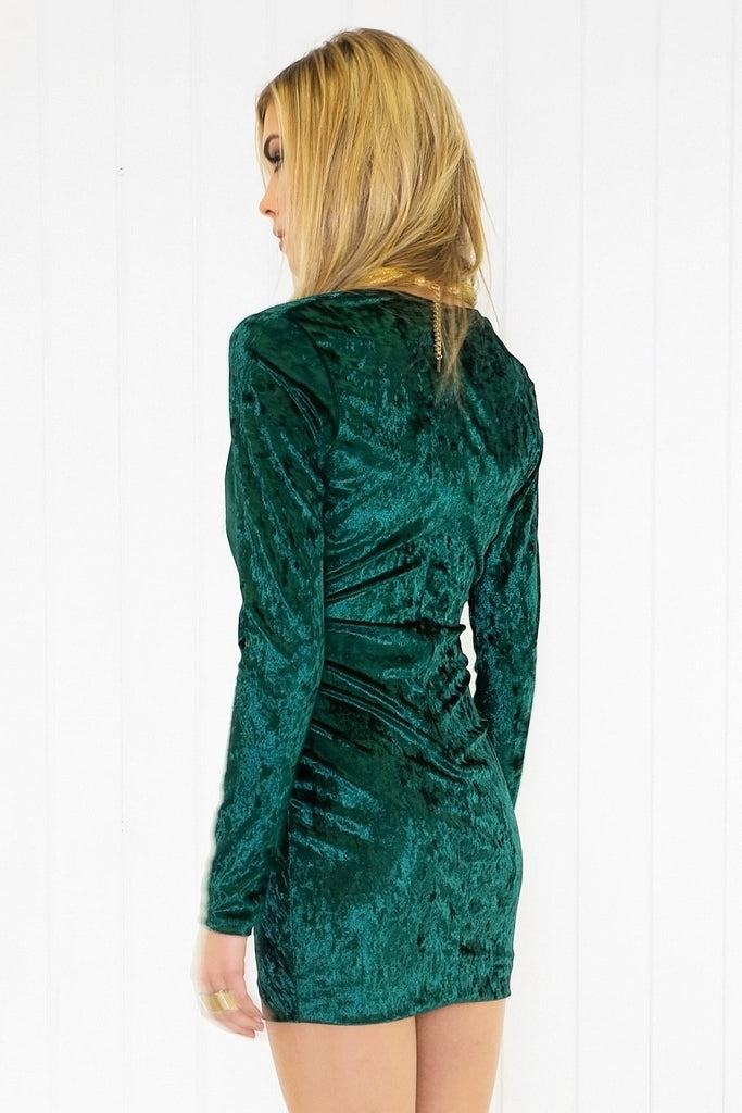 Naya Velvet Long Sleeve Dress