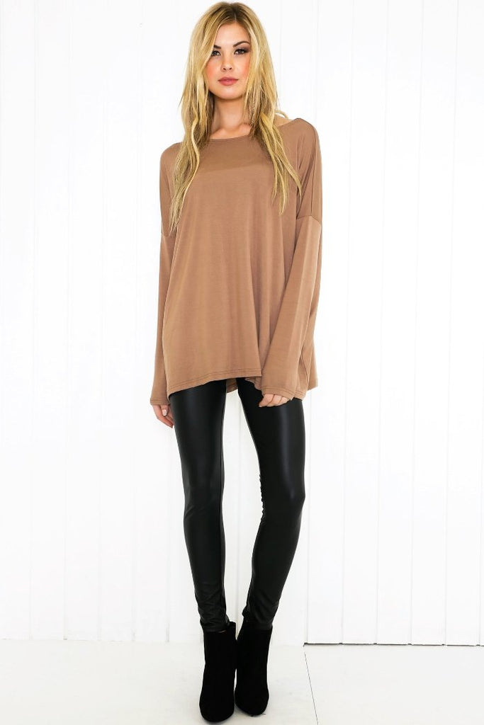 Suzanna Long Sleeve Top - Mocha