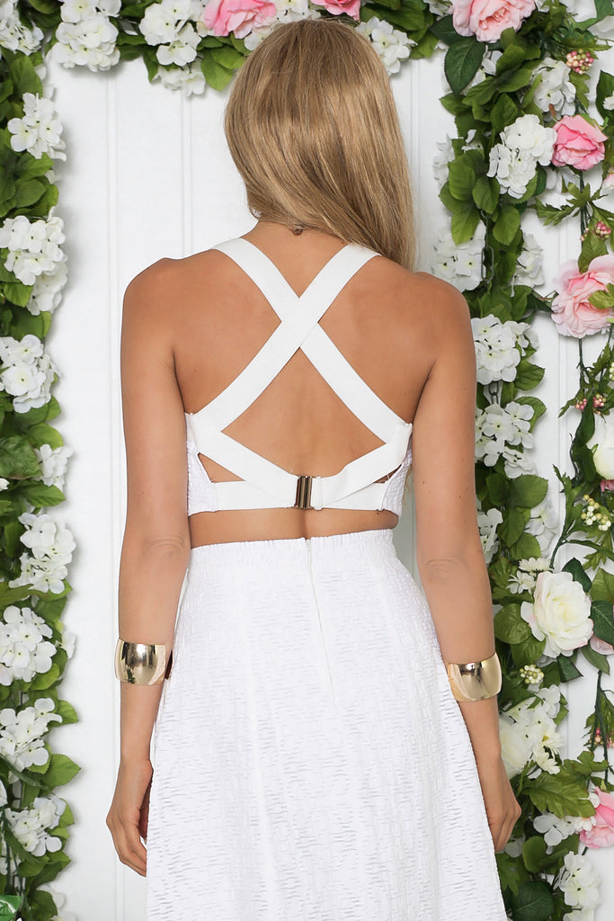 Yadira Open Back Crop Top