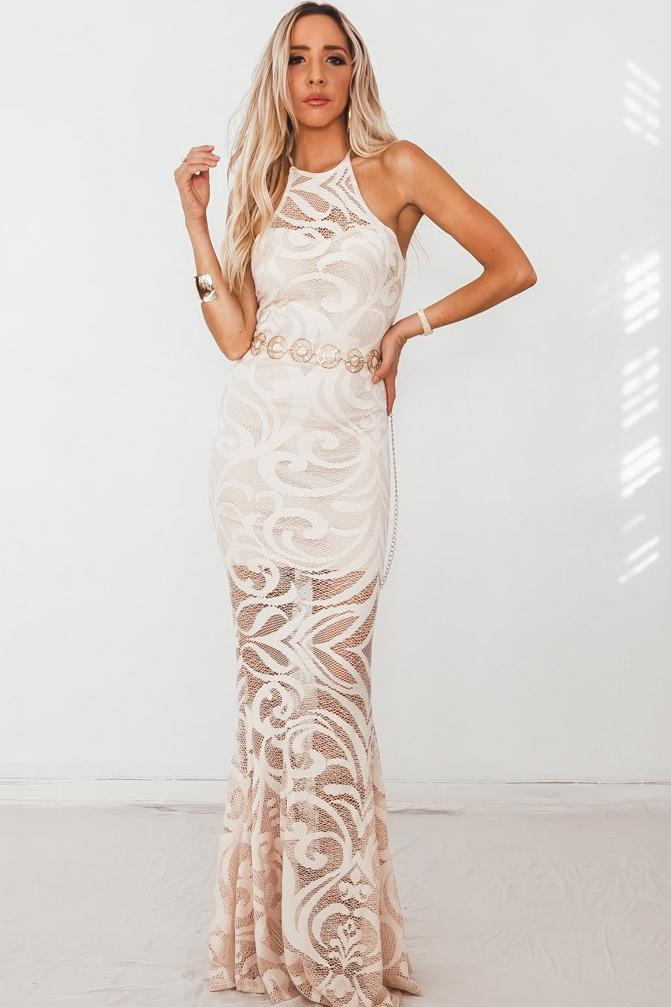 Lace Sleeveless Maxi Dress