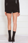 Shorts with Lace-Up Detail - Black