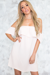 Off-Shoulder Layered Ruffle Dress - Haute & Rebellious