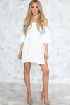 Off Shoulder Slit Sides Tunic - White /// ONLY 1-S LEFT/// - Haute & Rebellious