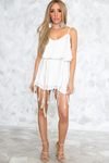 Fringe Hem Stitching Detail Dress - Haute & Rebellious