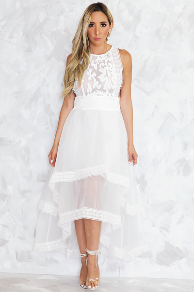 Lani Lace High-Low Maxi Dress